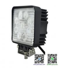 LED工作燈/探照燈27W 12-24V(方型) 適用: 船舶照明/霧燈/照明燈/探照燈/投射燈/大貨車/堆高機