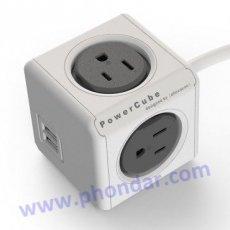 Powercube魔術方塊-雙USB延長線(usb充電x2+擴充插座x4) 1.5M
