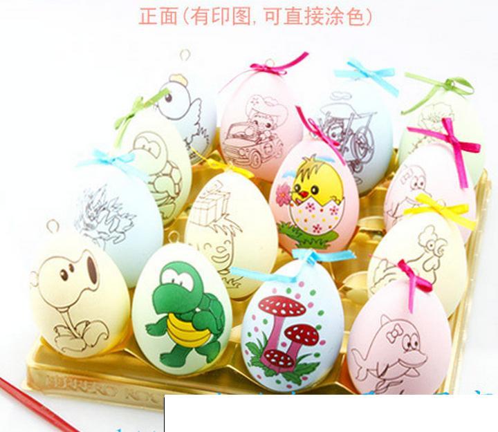 炫彩蛋涂鸦彩绘系列,复活蛋绘制,复活节礼品,节日礼物